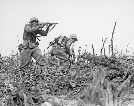War, Soldiers, Marine, Bataile Of Okinawa, May 1945