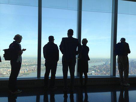 One World Trade Center, View, People, Manhattan, Usa
