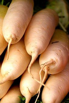 White Carrots, Vegetable, Greens, Fruit, Fruits