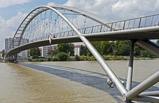 Weil Am Rhein, Three Countries Bridge, Basel, Huningue