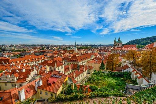 Prague, View, Skyline, Roofs, Church, Czech