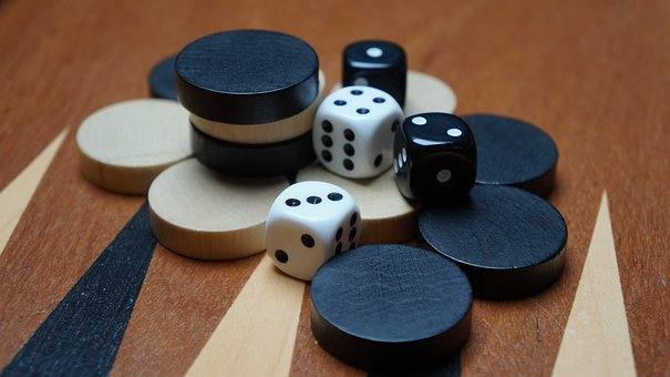 Backgammon, Board Game, Cube, Strategy, Games Suitcase