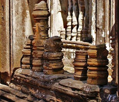 Column, Ruins, Broken, Stone, Lime Stone, Architecture