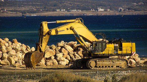 Digger, Heavy Machine, Working, Construction, Equipment