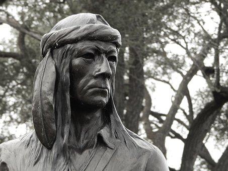 Native American, Statue, Historical, Native, American