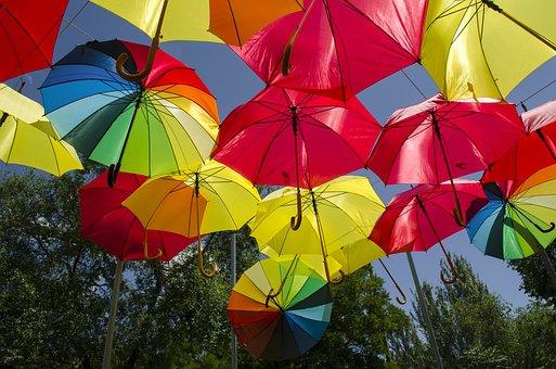 Umbrella, Umbrellas, Colors
