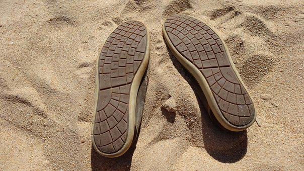 Keyboard, Shoes, Sand, Funny