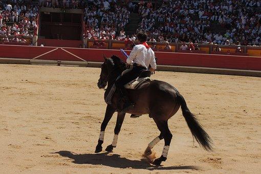 Horse, Rejoneo, Plaza, Pamplona