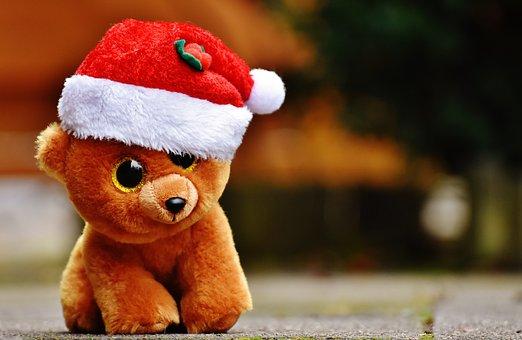 Christmas, Teddy, Bear, Stuffed Animal, Soft Toy