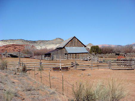 Peasant, Farm, Wild West, Lonely, Ranch, Usa