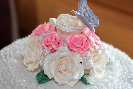 Sugar Craft, Sugar Icing, Roses, Homemade, Cake