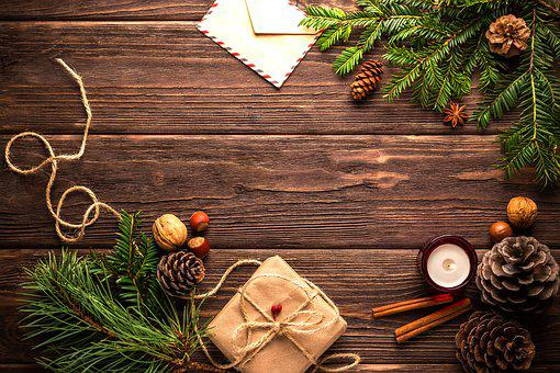 Christmas, New Year's Eve, Postcard, Congratulation
