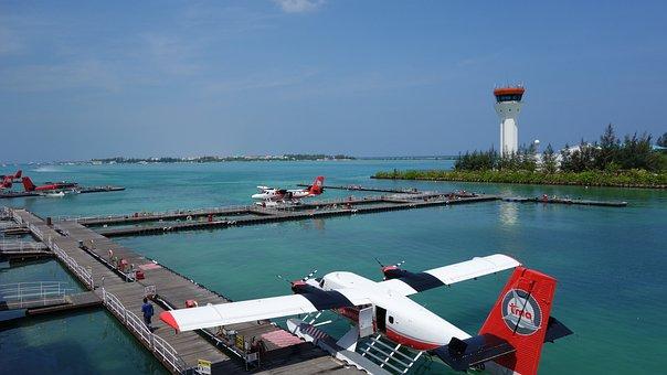 Seaplane, Male, Tourism, Pier, Bay, Port