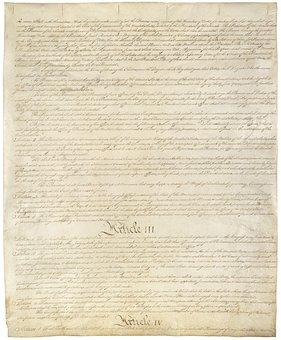 Constitution, United States, Usa, America