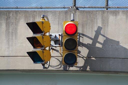 Red Light, Stoplight, Street Sign, Signal, City, Travel