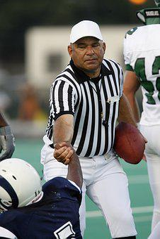 Referee, Football, Helping, Lifting, Lending A Hand