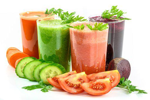 Vegetable Juices, Vegetables, Secluded, White, Fresh