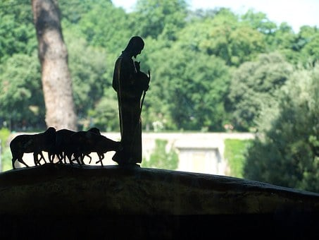 Good Shepherd, Lamb, Statue