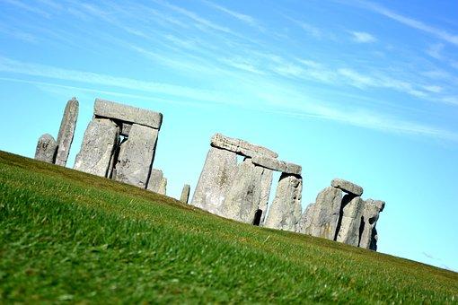 Stonehenge, England, Sculpture, The Stones, View, Grass