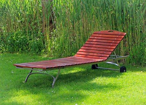 Garden Bed, Sun Lounger, Wood Lying, Liège, Rest