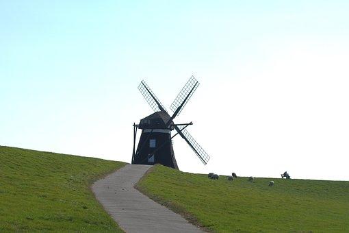 Norder Mill, Mill, Pellwormer Mill, Windmill, Pellworm