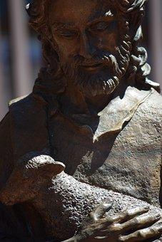 Jesus, Good Shepherd, Christ, Sculpture