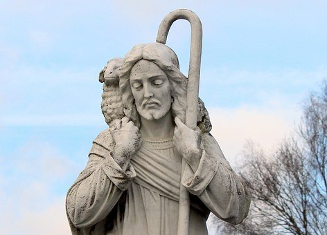 Jesus, The Good Shepherd, Shepherd's Staff, Bear, Worn