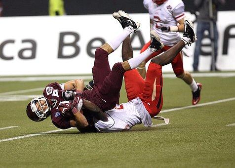 Football, Action, Tackle, Ball Carrier, Reception, Ball