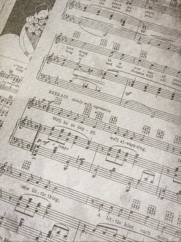 Sheet Music, Paper, Notes, Antique, Vintage, Music
