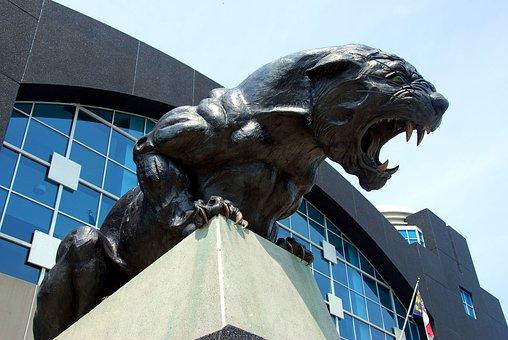 Panther Sculpture, Football, Stadium, Carolina