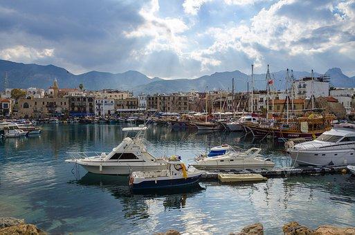 Cyprus, Kyrenia, City, Mediterranean, Landscape, Travel