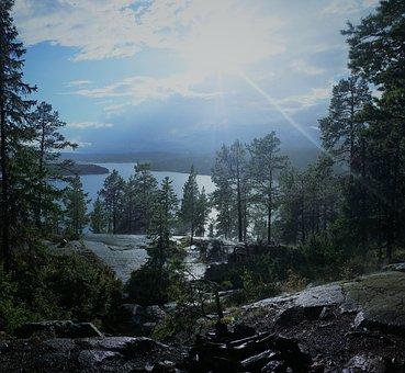 Rain, Sea, Sweden, Solar, Natural Sea, Archipelago
