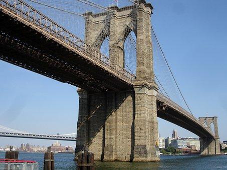 Brooklyn Bridge, Bridge, New York City, Nyc