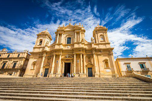 Cathedral, Noto, Sicily, Baroque, Church, Italy