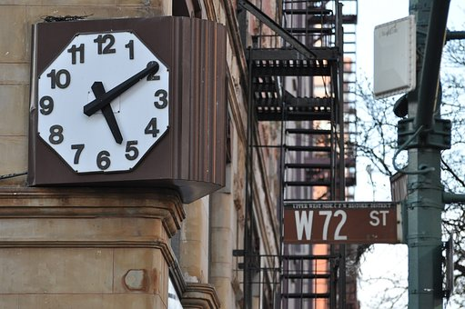 Clock, New York, 72nd Street, City, Architecture