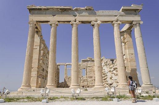 Greece, Athens, Acropolis, Parthenon, Columns, Temple