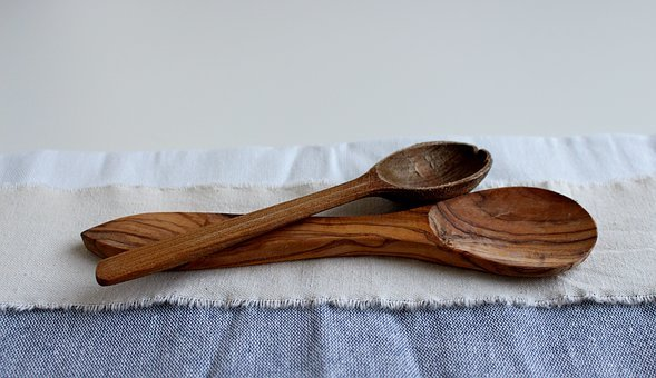 Close, Spoon, Wooden Spoon, Old, Rustic, Wood