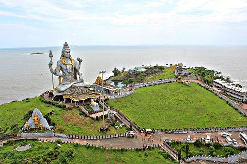 Beach, Aerial View, Murudeshwar, Karnataka, India