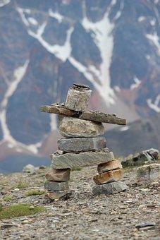 Inukshuk, Rock, Cairn, Stone, Canada, Inuit, Symbol