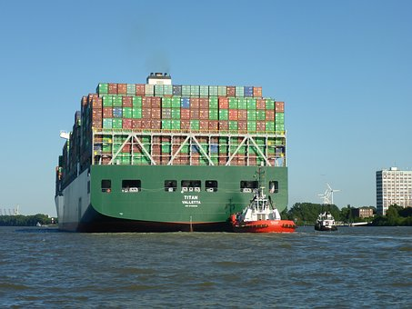 Container, Container Ship, Transport, Tug, Maritime
