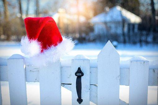 Santa's Hat, Snow, Winter, Christmas, Santa, Hat, Xmas