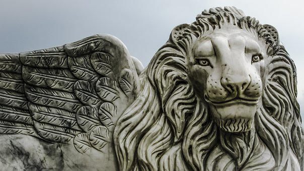 Cyprus, Larnaca, Winged Lion, Lion, Wings, Statue