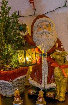 Santa, Reindeer, Rudolf, Christmas, Santa Claus
