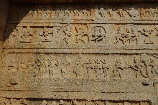 Hazara Rama Temple, Hampi, Unesco, Site, Sculpture