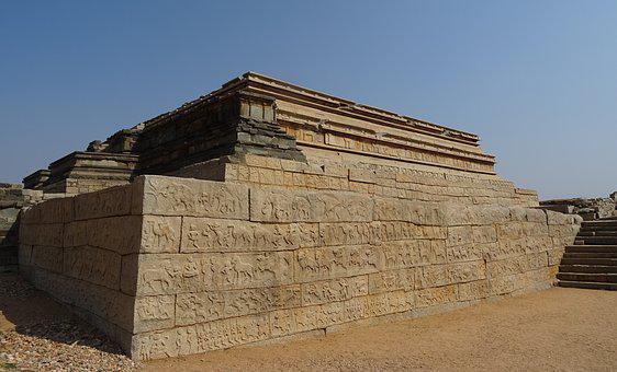 Mahanavami Dibba, Hampi, Platform, Raised, Unesco