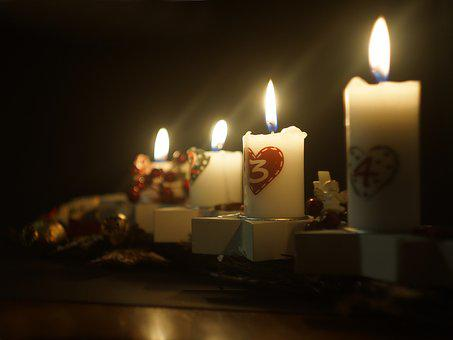 Christmas, Candles, Advent, Flame, Burning Candle, Wax