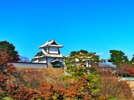Japan, Landscape, Kenrokuen Park, Kanazawa, Ishikawa