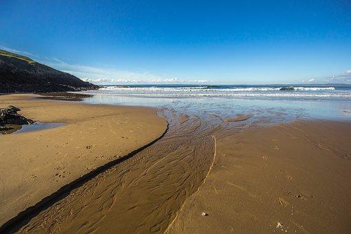 Beach, Low Tide, Sand, Ocean, England