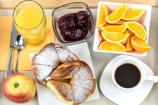 Breakfast Hotel, Continental, Tray, Coffee, Jam