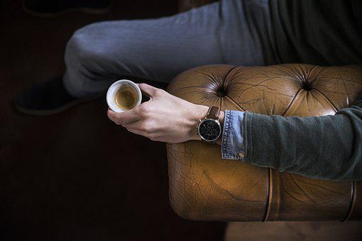 Coffee, Watch, Chesterfield, Table, Cup, Drink